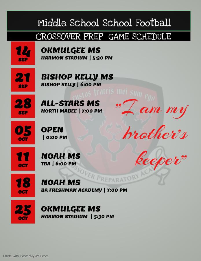 Middle School football schedule (1)